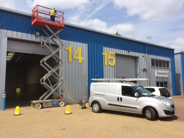 Cladding cleaning work in Stevenage